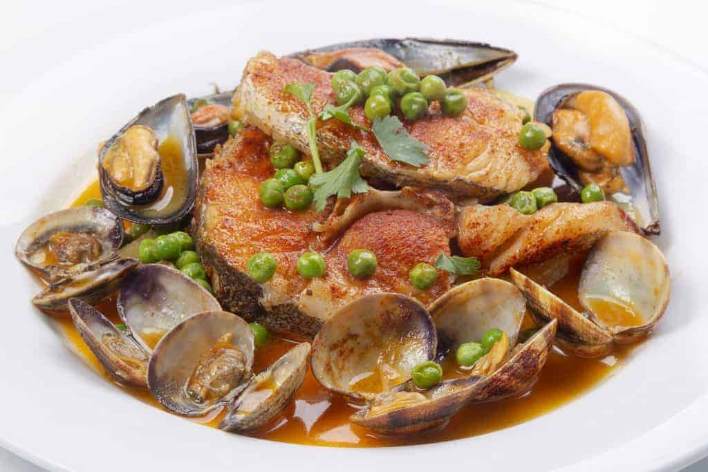 Galician style hake