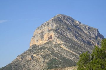 El monte montgo desde javea