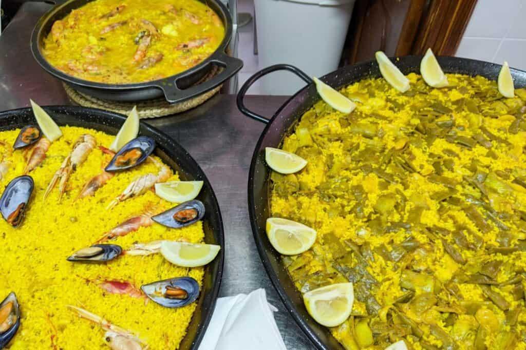 Paella sin gluten en Jávea