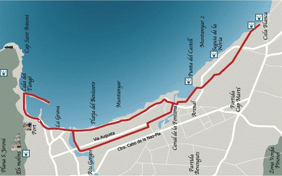 Ruta bici Javea port-cala blanca