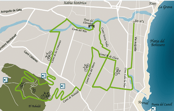 Ruta bici por Javea Rebaldi