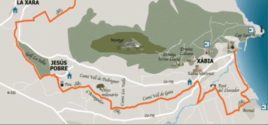 Ruta en bici Javea Volta al Montgó